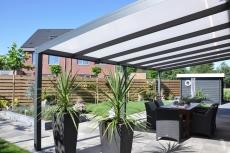 Aluminium-Terrassenüberdachung California 1000x400 cm mit 8 mm VSG Glas