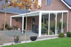 Aluminium-Terrassenüberdachung California  1100x450  mit 8 mm VSG Glas