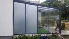 Aluminium-Seitenwand für Terrassenüberdachung California 250 cm Stegplatten